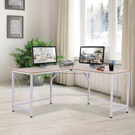 image-Reddin L-Shape Executive Desk Ebern Designs