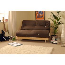 image-Pfeffer 2 Seater Futon Sofa Mercury Row Upholstery Colour: Chocolate, Size: Small Double (4')