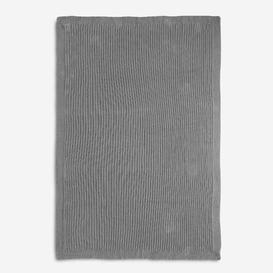 image-Barry Hygge Plaid Blanket Isabelline Colour: Grey