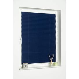 image-Blackout Pleated Blind Mercury Row Finish: Dark Blue, Size: 80 W x 210 L cm