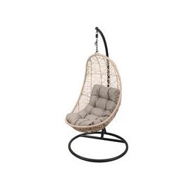 image-LG Outdoor Monaco Rattan Weave Hanging Garden Egg Chair