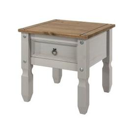 image-Corina Wooden Lamp Table In Grey Washed Wax Finish