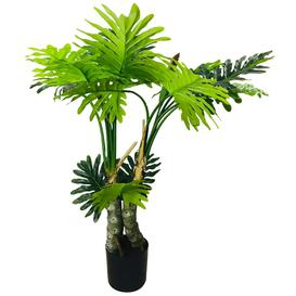 image-Artificial Philodendron Tree, Spot Stems 135cm