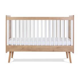 image-Westport Cot Bed Silver Cross Colour: Oak/White
