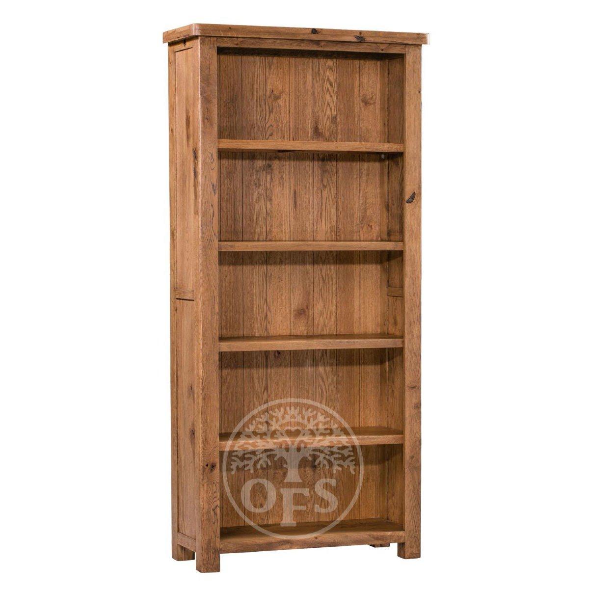 image-Huari Oak Large Bookcase