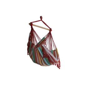 image-Edith Cotton Hanging Chair Freeport Park Colour: Salsa