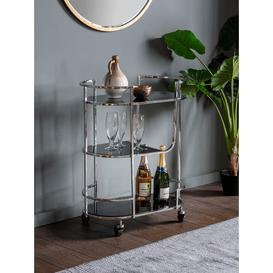 image-Three Tier Drinks Trolley - Silver