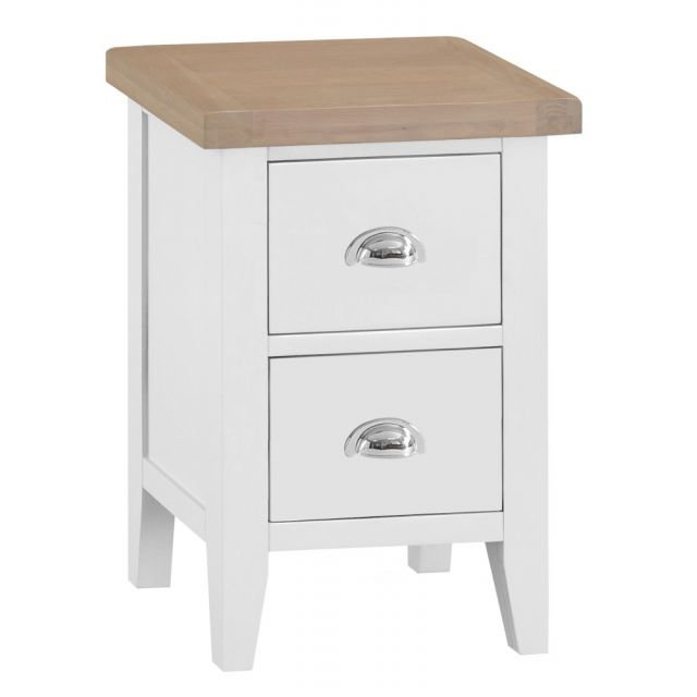 image-Trentham White Small Bedside Chest
