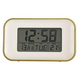 image-Digital Quartz Alarm Tabletop Clock Acctim Colour: Mustard Yellow