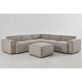 image-Model 03 Corner Sofa with Ottoman - Pumice Linen