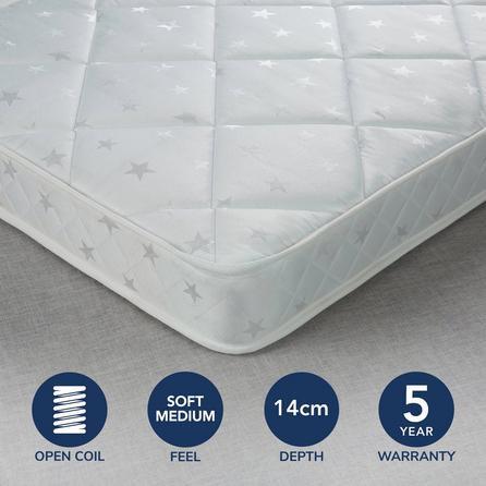 image-Fogarty Little Sleepers Anti Allergy Open Coil Mattress White