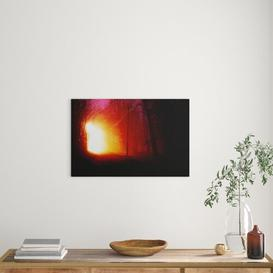 image-Landscape Forest Light at Night Photographic Print on Canvas Big Box Art Size: 50cm H x 76cm W