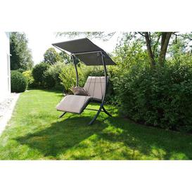 image-Bambu Swing Seat with Stand Sol 72 Outdoor Colour (Cushion): Beige