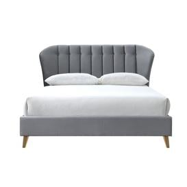 image-Gerlach Upholstered Bed Frame Corrigan Studio Colour: Grey, Size: Double (4'6)
