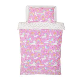 image-Argos Home Unicorn Bedding Set - Toddler