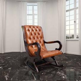 image-Chesterfield York Slipper Rocking Chair Old English Bruciato&amphellip