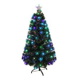 image-120cm (4 Foot) Dark Green Fibre Optic Classic Christmas Tree