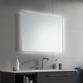image-Hannah LED Illuminated Bathroom Mirror Wade Logan Size: 65cm H x 120cm W x 3.2cm D