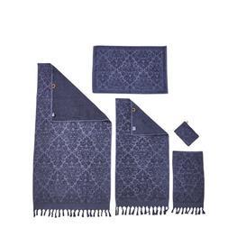 image-Fortier 5 Piece Towel Bale Fleur De Lis Living Colour: Anthracite