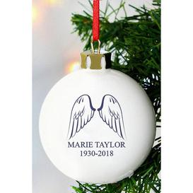 image-Personalised Angel Wings Bauble