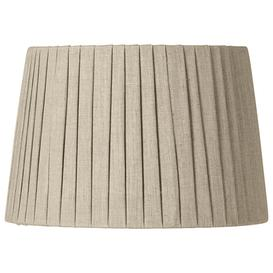 image-30cm Pleated Linen Lampshade - Natural