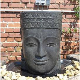 image-Christopherso Khmer Head Natural Stone Fountain Sol 72 Outdoor