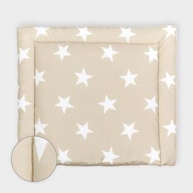 image-Big Grey Stars Changing Mat KraftKids Size: 78cm H x 78cm W x 4cm D, Colour: Beige/White
