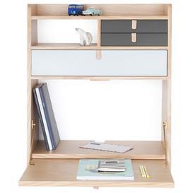 image-Gaston Wall writing desk by Hart├┤ Light grey,Slate grey
