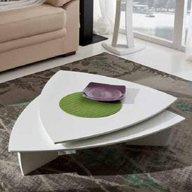image-Sexton Coffee Table Ebern Designs Tabletop colour: White, Frame colour: Taupe