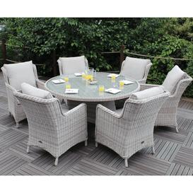 image-Royalcraft Garden Furniture Seychelles 6 Seater Round Comfort Dining Set