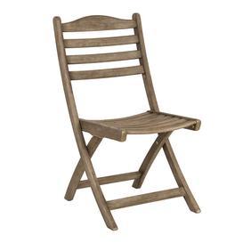 image-Alexander Rose Garden Furniture Sherwood Acacia Folding Side Chair