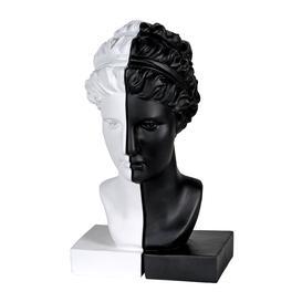 image-Melinoe Greek Goddess Bookends - Stylish Monochrome Grecian Bust...