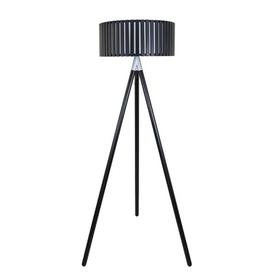 image-Denby 154cm Tripod Floor Lamp Ebern Designs Finish: Black
