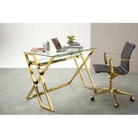 image-Bateman Desk Canora Grey Colour: Gold