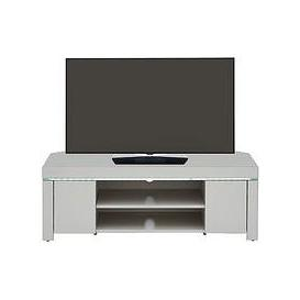 image-Atlantic High Gloss Corner Tv Unit With Led Light - Grey - Fits Up To 50 Inch Tv
