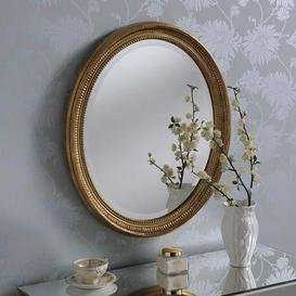 image-Yearn Ornate Oval Mirror 71x61cm Gold Gold
