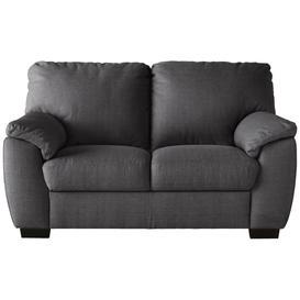 image-Argos Home Milano 2 Seater Fabric Sofa - Charcoal