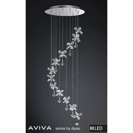 image-IL31143 Aviva LED 12 Light Chrome & Crystal Ceiling Pendant