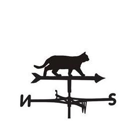 image-Prowling Cat Weathervane - Medium (Cottage)