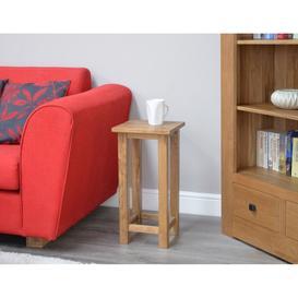 image-Rustic Solid Oak Furniture Square Lamp Table - PRE-ORDER