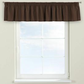 image-Chenille Curtain Pelmet Dekoria Size: 390cm W x 40cm L, Colour: Mocha