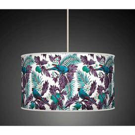 image-Polyester Drum Shade Bay Isle Home Colour: Turquoise/Blue, Size: 22cm H x 40cm W x 40cm D, Type: Ceiling/Wall