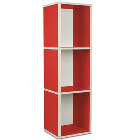 image-Narrow 114cm Cube Bookcase Symple Stuff Colour: Red