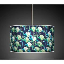 image-Polyester Drum Shade Bay Isle Home Colour: Green, Size: 26cm H x 50cm W x 50cm D, Type: Ceiling/Wall