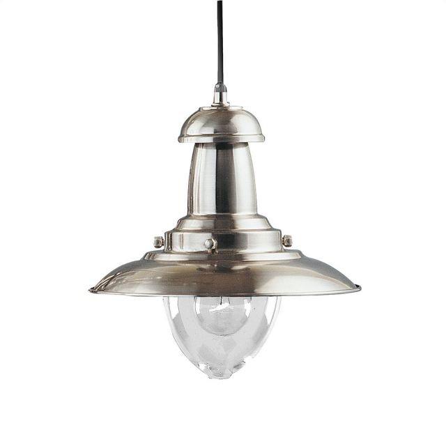 image-Fishermans Satin Silver Ceiling Light