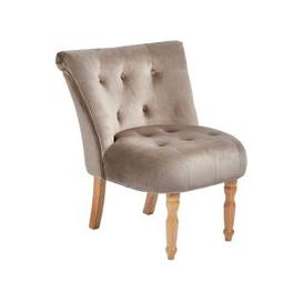 image-Alger Fabric Occasional Chair In Cappuccino With Wooden Legs