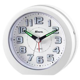 image-Ealing Analog Quartz Alarm Tabletop Clock Ravel Finish: Black/Silver