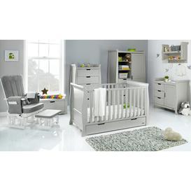 image-Stamford Classic Sleigh  7 Piece Nursery Furniture Set Obaby Colour: Warm Grey