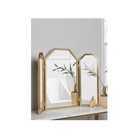 image-Brass Folding Dressing Table Mirror
