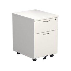 image-Progress Low Mobile Pedestal, White, Free Standard Delivery